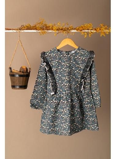 Zeyland Yan Fırfırlı Desenli Elbise (5-12yaş) Yan Fırfırlı Desenli Elbise (5-12yaş) Yeşil